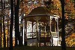 gazebo in fall, Eagles Mere, PA