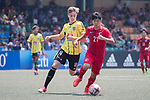 HKFA Red Dragons (in red) vs Wellington Phoenix (in yellow) during their Main Tournament Plate Semi-Final match, part of the HKFC Citi Soccer Sevens 2017 on 28 May 2017 at the Hong Kong Football Club, Hong Kong, China. Photo by Chris Wong / Power Sport Images