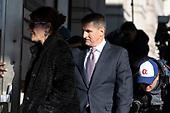 General Michael Flynn, former advisor to United States President Donald J. Trump, arrives at US District Court for sentencing in Washington, DC on December 18, 2018. Credit: Alex Edelman/CNP