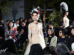 April 19, 2017, Tokyo, Japan - Models display creations designed by Italian designer Maria Grazia Chiuri during Dior's 2017 spring-summer haute couture collection at the rooftop of the Ginza Six in Tokyo on Wednesday, April 19, 2017. Tokyo's new landmark Ginza Six will open on April 20 where Dior will have its flagship store.     (Photo by Yoshio Tsunoda/AFLO) LwX -ytd-