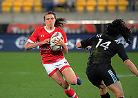 Julianne Zussman in action during the 2017 International Women's Rugby Series rugby match between the NZ Black Ferns and Canada at Westpac Stadium in Wellington, New Zealand on Friday, 9 June 2017. Photo: Dave Lintott / lintottphoto.co.nz