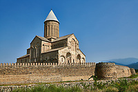 Pictures &amp; images of the medieval Alaverdi St George Cathedral &amp; monastery complex, 11th century, near Telavi, Georgia (country). <br /> <br /> At 50 meters high Alaverdi St George Cathedral was once the highest cathedral in Georgia (now its the nes Tblisi cathedral). The cathedral is part of a Georgian Orthodox monastery founded by the monk Joseph [Abba] Alaverdeli, who came from Antioch and settled in Alaverdi. On the UNESCO World Heritage Site Tentative List.