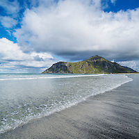 Skagsanden beach, Flakstadoy, Lofoten Islands, Norway