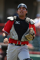 Richmond Flying Squirrels Eliezer Zambrano #15 during a game against the Erie Seawolves at Jerry Uht Park on July 27, 2011 in Erie, Pennsylvania.  Richmond defeated Erie 4-2.  (Mike Janes/Four Seam Images)