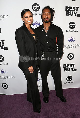 LOS ANGELES, CA - NOVEMBER 8: Nazanin Mandi and Miguel at the Eva Longoria Foundation Dinner Gala honoring Zoe Saldana and Gina Rodriguez at The Four Seasons Beverly Hills in Los Angeles, California on November 8, 2018. Credit: Faye Sadou/MediaPunch