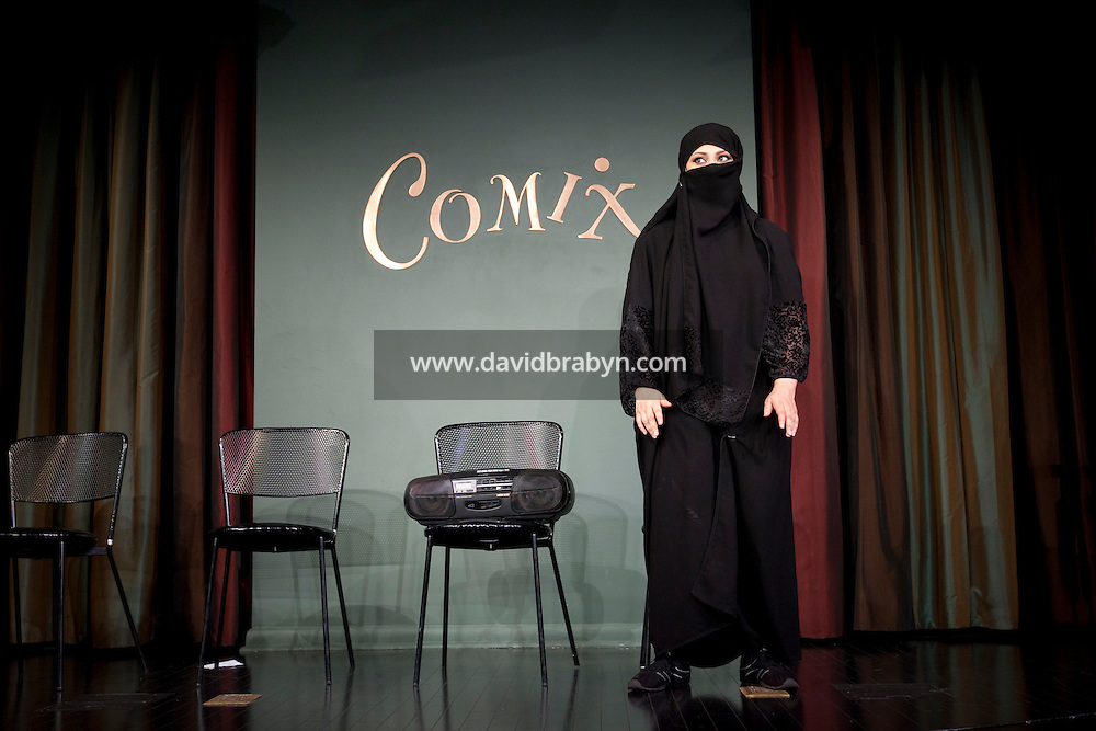 Comedian Rasha Zamamiri performs in the 6th Annual NY Arab-American Comedy Festival in New York, USA, 10 May 2009.