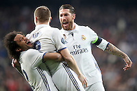 Champions League between Real Madrid and SSC Napoli  at Santiago Bernabeu Stadium in Madrid