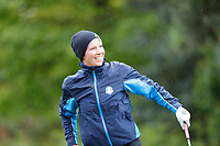 Rachel Finnis is pleased with her drive during the Hero Pro-am at the Betfred British Masters, Hillside Golf Club, Lancashire, England. 08/05/2019.<br /> Picture David Kissman / Golffile.ie<br /> <br /> All photo usage must carry mandatory copyright credit (&copy; Golffile | David Kissman)