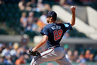 Atlanta Braves relief pitcher Jeremy Walker (89) delivers a pitch during a Grapefruit League Spring Training game against the Detroit Tigers on March 2, 2019 at Publix Field at Joker Marchant Stadium in Lakeland, Florida.  Tigers defeated the Braves 7-4.  (Mike Janes/Four Seam Images)