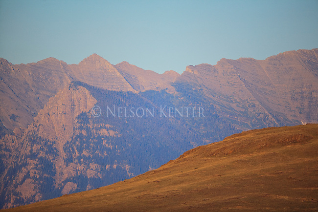 The Mission Mountains in late summer north of Missoula, Montana