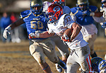 Bishop Gorman's Jonathan Shumaker runs against Reed in an NIAA Division I playoff game at Reed High School in Sparks, Nev., on Saturday, Nov. 28, 2015. Bishop Gorman won 41-13. (Cathleen Allison/Las Vegas Review-Journal)