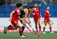 Pippa Hayward during the World Hockey League match between New Zealand and Korea. North Harbour Hockey Stadium, Auckland, New Zealand. Saturday 18 November 2017. Photo:Simon Watts / www.bwmedia.co.nz
