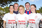 Pictured at the Enable Ireland 5k run at the Brandon on Saturday, from left: Sally Ann Sherry, Eamon Sherry, Aine Boyle, Thomas Foy, Niamh Foy.