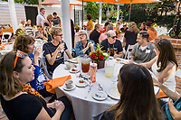 "(Photo by Don Milici, Freelance Photographer)<br /> <br /> As part of Occidental College's Homecoming & Family Weekend, photo of ""Alumni and Student Legacy Families Luncheon"" with generations of Oxy Tigers and Oxy families at a luncheon with fellow legacy families that celebrates their special connections to Oxy. Friday, Oct. 18, 2019 at Collins Admission House.<br /> <br /> (Photo by Don Milici, Freelance Photographer)"