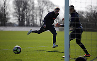 Pictured: Oliver McBurnie fails to score from close range Friday 24 March 2017<br /> Re: Swansea City U23 training ahead of their International Cup game against Porto, Fairwood training ground, UK