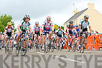 THERE OFF: The start of the Drumm Cycle Race in Currow on Sunday.