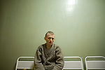 Andrei, 31, a former drug user who is HIV positive, waits for test results at Botkin Hospital in St. Petersburg, Russia, on Wednesday, September 12, 2007. Though he learned his HIV status six years ago, he only gave up drugs and started seeking treatment less than a year ago when he came down with pneumonia. Since then, he has lost 30% of his body weight but will soon start anti-retroviral treatment.