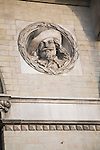 King Charles 1 Royal roundel portraits on Great Eastern hotel building Harwich, Essex, England
