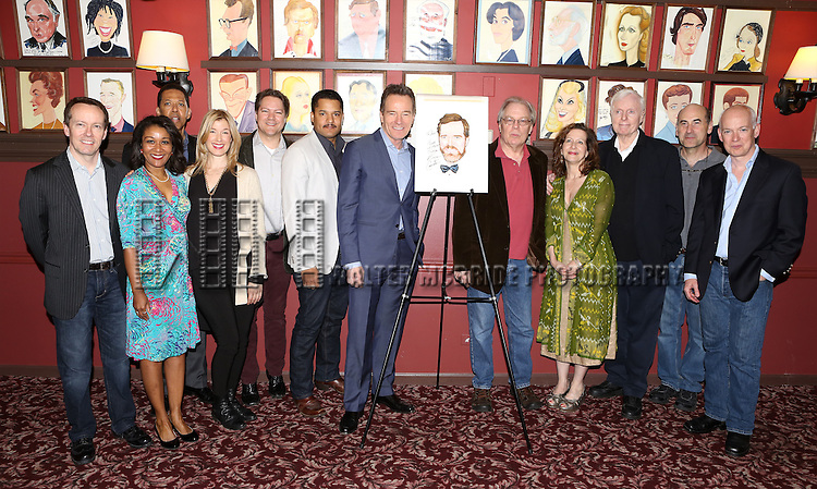 Bryan Cranston with the cast of 'All The Way' attend the Sardi's Caricature Unveiling for Bryan Cranston on May 29, 2014 in New York City