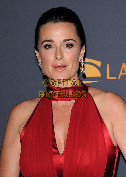 KYLE RICHARDS .Los Angeles Philharmonic 2010/2011 Season Opening Night Gala held at The Disney Concert Hall, Los Angeles, California, USA..October 7th, 2010.headshot portrait red mouth open                                .CAP/RKE/DVS.©DVS/RockinExposures/Capital Pictures.