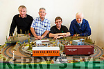 Members off the Kerry Model Railway, Denis Murphy,  Liam Freeman, Brendan O'Brien and Billy Nolan launching their Model train exhibition in Blennerville on Tuesday, and it will be held over the Bank Holiday Weekend.