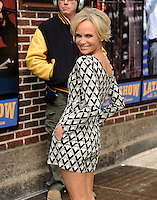 NEW YORK, NY - APRIL 1,2014: Actress Kristin Chenoweth  visits The Late Show With David Letterman at the Ed Sullivan Theater, New York City ,April 1, 2014 in New York City.  HP/Starlitepics.