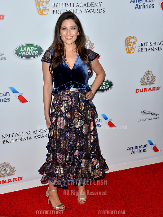 BEVERLY HILLS, CA. October 26, 2018: Taylor Treadwell at the 2018 British Academy Britannia Awards at the Beverly Hilton Hotel.<br /> Picture: Paul Smith/Featureflash