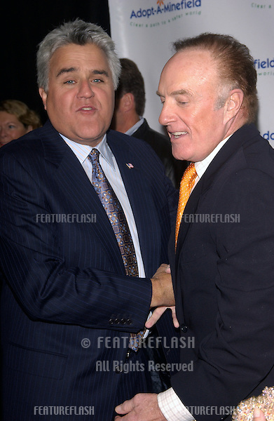 Comedian JAY LENO (left) & actor JAMES CAAN at the 4th Annual Adopt-A-Minefield Gala at the Century Plaza Hotel, Beverly Hills, California..October 15, 2004