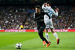 Neymar da Silva Santos Junior, Neymar Jr (L), of Paris Saint Germain fights for the ball with Isco Alarcon of Real Madrid during the UEFA Champions League 2017-18 Round of 16 (1st leg) match between Real Madrid vs Paris Saint Germain at Estadio Santiago Bernabeu on February 14 2018 in Madrid, Spain. Photo by Diego Souto / Power Sport Images