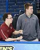Tom Maguire (BC - Manager), Kevin Pratt (BC - Manager) - The Boston College Eagles practiced on Friday, April 6, 2012, during the 2012 Frozen Four at the Tampa Bay Times Forum in Tampa, Florida.