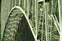 Steel structure of Deception Pass Bridge, Deception Pass State Park, Island County & Skagit County, Washington, USA