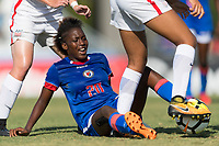 Bradenton, FL - Sunday, June 10, 2018: Flero Surpris during a U-17 Women's Championship match between the United States and Haiti at IMG Academy.  USA defeated Haiti 3-2 to advance to the finals.