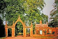 Clytha Castle--Gothic entrance and gatehouse, 1790.  Architect John Davenport. Monmouthshire, Wales.