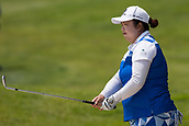 28th May 2017, Ann Arbor, MI, USA;  Shanshan Feng, of China, hits her approach shot to the 18th green during the final round of the LPGA Volvik Championship on May 28, 2017 at Travis Pointe Country Club in Ann Arbor, Michigan.