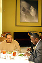 Diners Melvin Gayle and Kelvin Williams have lunch at Herbsaint, Thursday, January 27, 2005..(CHERYL GERBER PHOTO).