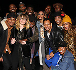 "Natasha Lyonne and Danielle Brooks with the cast and crew backstage after a performance of ""Ain't Too Proud"" at the Imperial Theatre on April 11, 2019 in New York City."