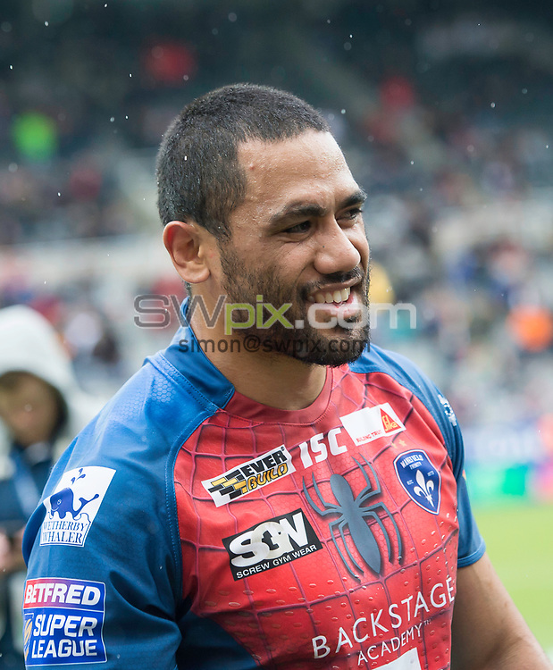Picture by Allan McKenzie/SWpix.com - 20/05/2017 - Rugby League - Dacia Magic Weekend - Widnes v Wakefield - St James' Park, Newcastle, England - Bill Tupou.