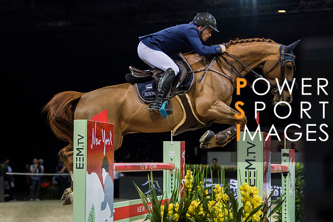 Olivier Robert of France riding Tempo de Paban competes in the Longines Grand Prix during the Longines Masters of Hong Kong at AsiaWorld-Expo on 11 February 2018, in Hong Kong, Hong Kong. Photo by Zhenbin Zhong / Power Sport Images