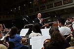 23.6.2014, Konzerthaus Berlin. Leon Botstein während der Probe mit dem Bard College Conservatory Orchestra.