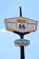 America's Mainstreet, coffee shop and Eatery sign, on route 66 in Tucmcari New Mexico.