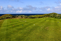 The 14th tee during Matchplay Semi-Finals of the AIG Irish Amateur Close Championship 2019 in Ballybunion Golf Club, Ballybunion, Co. Kerry on Wednesday 7th August 2019.<br /> <br /> Picture:  Thos Caffrey / www.golffile.ie<br /> <br /> All photos usage must carry mandatory copyright credit (© Golffile | Thos Caffrey)