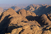 View from Mount Sinai at sunrise, Sinai mountains, Egypt, Oktober 1997
