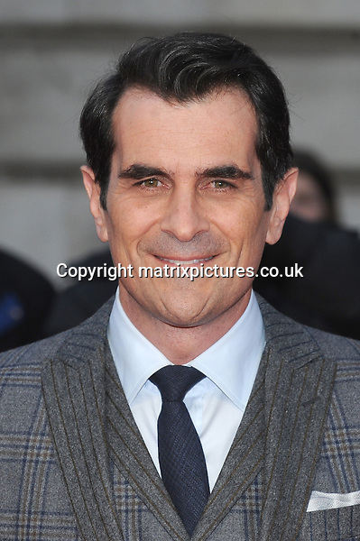 NON EXCLUSIVE PICTURE: PAUL TREADWAY / MATRIXPICTURES.CO.UK<br /> PLEASE CREDIT ALL USES<br /> <br /> WORLD RIGHTS<br /> <br /> American actor Ty Burrell attending The Muppets Most Wanted VIP film screening, at The Curzon Mayfair in London.<br /> <br /> MARCH 24th 2014<br /> <br /> REF: PTY 141470