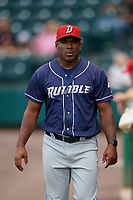 Binghamton Rumble Ponies Ender Chavez (4) before an Eastern League game against the Richmond Flying Squirrels on May 29, 2019 at The Diamond in Richmond, Virginia.  Binghamton defeated Richmond 9-5 in ten innings.  (Mike Janes/Four Seam Images)