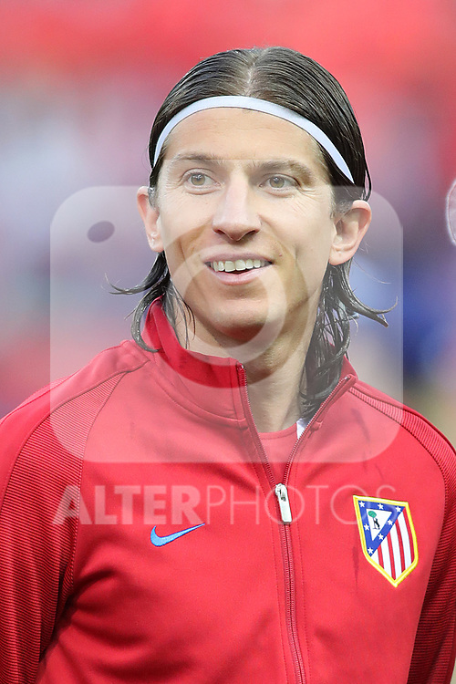 Atletico de Madrid's Filipe Luis during Champions League 2016/2017 Quarter-finals 1st leg match. April 12,2017. (ALTERPHOTOS/Acero)