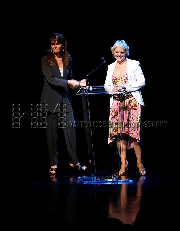 Lucie Arnaz (presenter) & Maria Friedman (winner).attending The 62nd Annual Theatre World Awards at Studio 54 in New York City..June 6, 2006.© Walter McBride / .