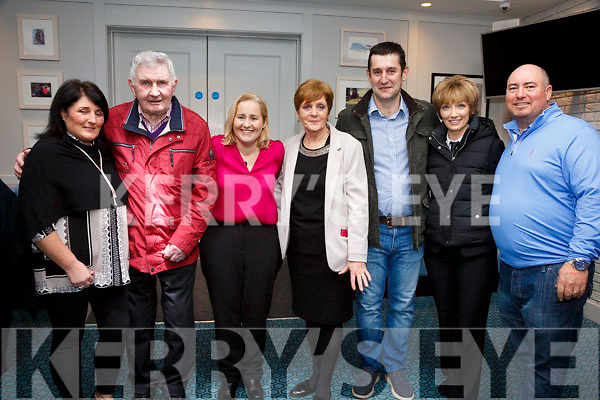Pictured at the Lip Sync Super Stars event in the Sea Lodge, Waterville on Saturday night were l-r; Bunty Donnelly, Mick O'Dwyer, Norma Moriarty, Bridie Moran, Séamus O'Shea, Jackie & Abie Huggard.