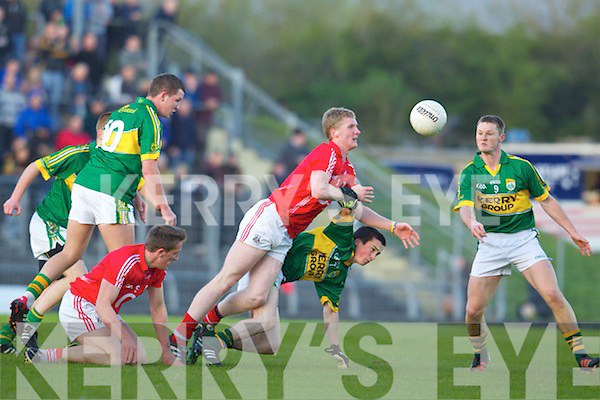 Paul Murphy Kerry in action against Rory Deane Cork in the U-21 football Munster final at Austin Stack Park on Wednesday evening.