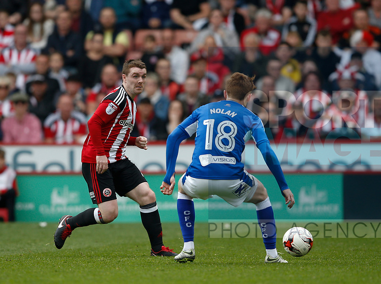 John Fleck of Sheffield Utd  during the English League One match at  Bramall Lane Stadium, Sheffield. Picture date: April 30th 2017. Pic credit should read: Simon Bellis/Sportimage