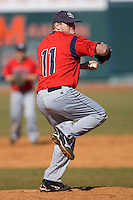 Ted Williams #11 of the Shippensburg Red Raiders in action versus the Catawba Indians on February 14, 2010 in Salisbury, North Carolina.  Photo by Brian Westerholt / Four Seam Images